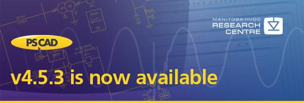 Обновление PSCAD Х4.5.3 доступно