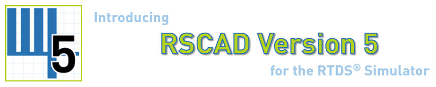 Новый RSCAD Version 5