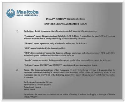 Лицензионное соглашение конечного пользователя PSCAD/EMTDC 2020
